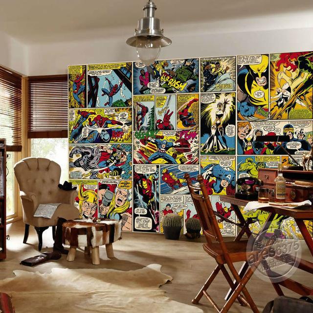 Marvel-Comics-Wallpaper-Custom-3D-Wall-Murals-Captain-America-Photo-wallpaper-Kids-Boys-Bedroom-Office-Shop_640x640