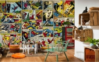 Marvel-Comics-Wallpaper-Custom-3D-Wall-Murals-Captain-America-Photo-wallpaper-Kids-Boys-Bedroom-Office-Shop